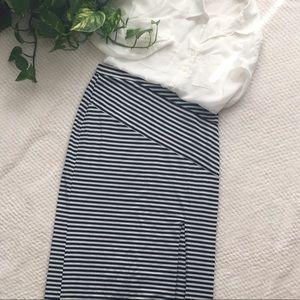 BOGO🍾 • Striped navy and white maxi skirt